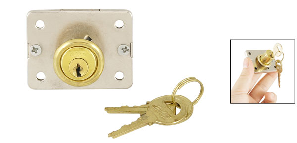 Security Metal Keyed Deadbolt Drawer Cabinet Lock Locking Locker