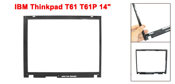 Black Plastic Notebook Laptop Screen Frame for IBM Thinkpad T61 T61P 14