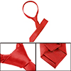 Red Self Tie Style Polyester Necktie Neckwear for Ladies