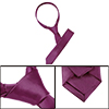 "2"" Wide Burgundy Pure Pattern Self Tie Skinny Necktie for Ladies"