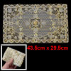 Flower Pattern Gold Tone Hollow Out Mesh Table Coaster Heat Insul...