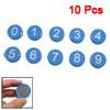 10 Pcs Magnetic Base Arabic Number Pattern Wash Machine Fridge Ma...