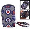 Heart Print Plaid Multicolor 2 Pocket Zipper Wrist Phone Bag Pouc...