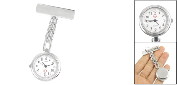 Nurses Pocket Quartz Cross Safety Pin Brooch Quartz Watch