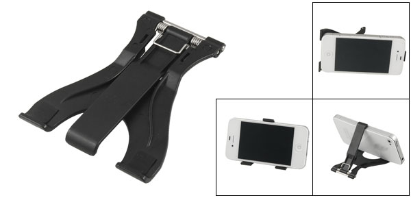 Black Folding Plastic Stand Bracket for Phone Tablet PC