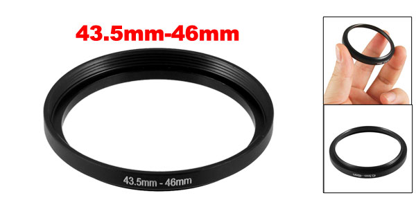 Camera Lens Step Up Filter Black Plastic Adapter Ring Holder 43.5mm-46mm