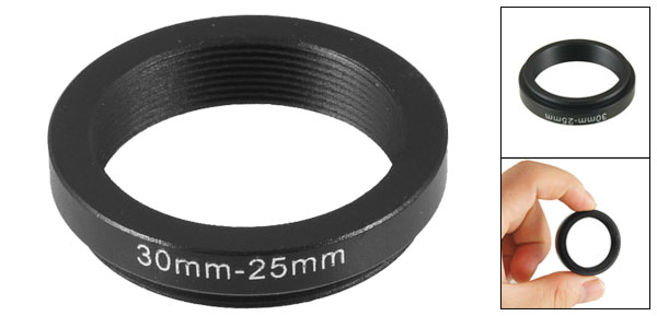 Camera Parts 30mm-25mm Lens Filter  Ring Adapter Black