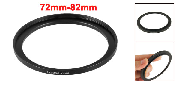 Camera Parts 72mm to 82mm Lens Filter Step Up Ring Adapter Black