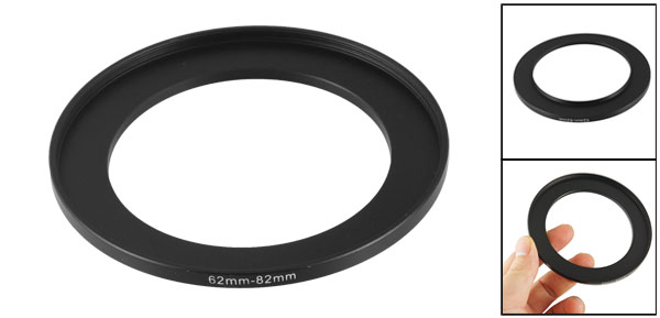 Camera Parts 62mm to 82mm Lens Filter Step Up Ring Adapter Black