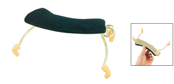 4/4 3/4 Rubber Cover Metal Violin Shoulder Rest Olive