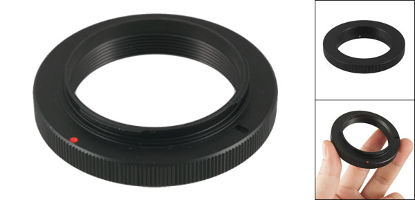 Female 42mm Lens Black Step Down Ring Adapter for Olympus OM 4/3