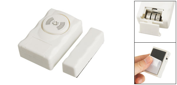Wireless Window Door Entry Security Home Burglar Alarm White