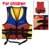 Kids Foam Nylon Zipper Colosure Swimming Floatation Jacket Vest