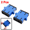 2 Pcs SC/SC Duplex Flange Fiber Optical Connector Adapter Coupler...
