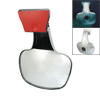 Silver Tone Plastic Shell Convex Blind Spot Rear View Mirror for SUV 4WD