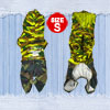 Beige Army Green Letters Pattern Hooded Doggy Clothing Dog Jumpsu...