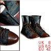 Men Stone Wash Green Color Zipped Heel Lace-Up Rubber Sole Boots ...
