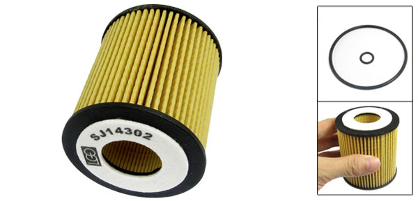 Car Engine Cartridge Oil Filter Yellow w Seal Ring for Ford Fusion
