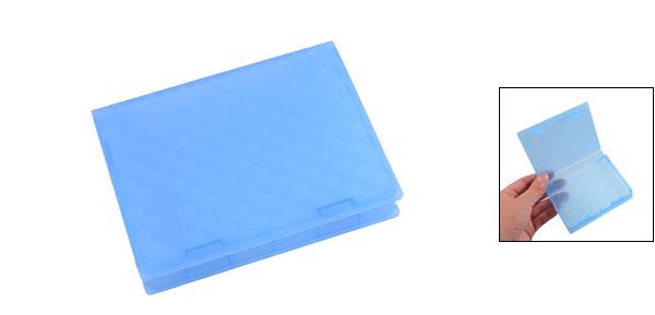 Blue Plastic 2.5 Inch IDE SATA Hard Drive HDD Store Tank Case Box