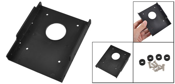 Black Plastic 2.5 Inche Frames SSD Bracket Desktop PC HDD Tray