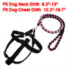 Doggie Pet Nylon Rope Lead Adjustable Dog Harness Leash Collar Se...