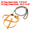 Yellow Blue Braided Nylon Rope Lead Doggie Dog Leash Collar Halte...
