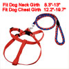 Doggie Pet Nylon Rope Lead Adjustable Dog Harness Leash Collar Set Red Blue
