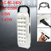 EU Plug Portable White 21 LED Rechargeable Emergency Light AC 90-...