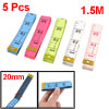 "1.5M 60"" Double Sided Fiberglass Tape Measure Sewing Rulers 5 Pcs"