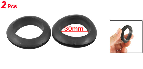 Wire Protective Rubber 30mm Inner Dia Double Sided Grommet 2 Pcs