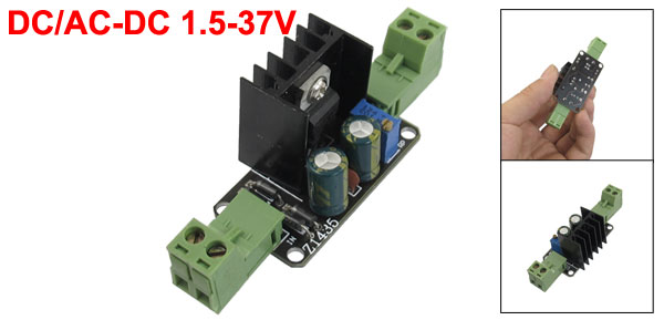 DC/AC-DC 1.5-37V Adjustable Power Supply Module LM317 w Heat Sink