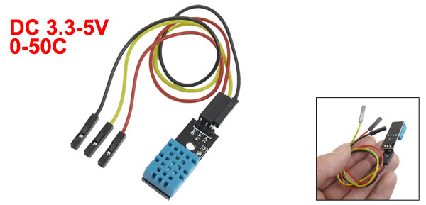 0-50 Celsius Temperature Humidity Sensor Module DC 3.3-5V w Cable