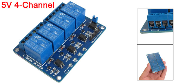 5V 4-Channel Relay Module Borad for 51 AVR ARM Electronic