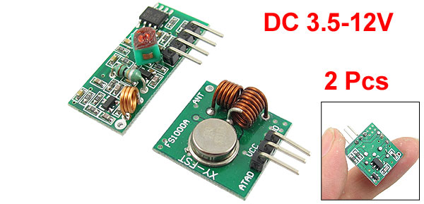 DC 3.5-12V 315MHZ/433.92MHZ Wireless Transceiver Module 2 Pcs
