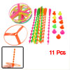 Children Colorful Plastic Spinning Shooter Clover Flying Disc Toy...