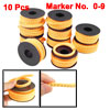 10 Rolls Orange Yellow PVC Number 0-9 Printed 2.5mm2 Wire Cable M...