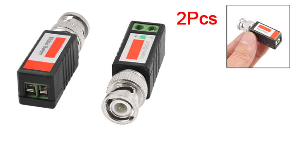 2 x UTP-202E 1 Channel CCTV Camera BNC Male UTP CAT5 Video Balun Transceiver
