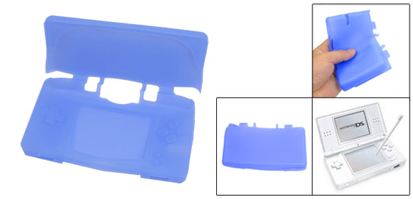 Blue Silicone Protecting Guard Shell Case For Nintendo NDSL DSL