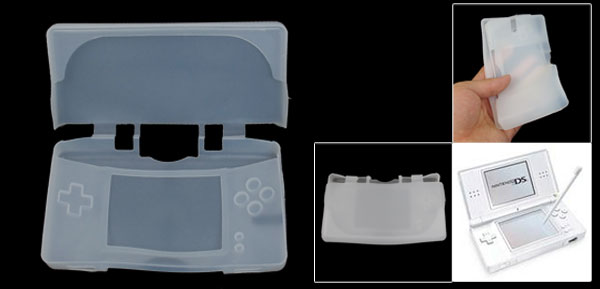 White Protective Silicone Soft Case for Nintendo NDSL