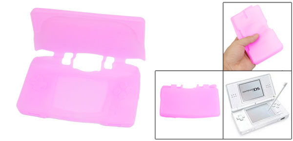 Pink Silicone Skin Soft Case For Nintendo NDSL DSL