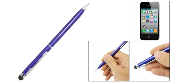 Royal Blue Touch Screen Stylus Twist Ballpoint Pen for iPhone 3G 3GS 4 4G