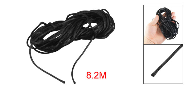 8.2M Nylon Line Thread Wrist Strap Chinese Knot Rat Tail Cord Black