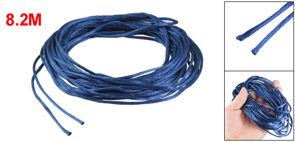 Royal Blue Braided Thread Nylon Handwork Chinese Knot Rat Tail Cord