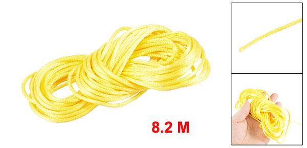 Yellow Braided Thread Nylon Handwork Chinese Knot Rat Tail Cord 8.2M