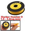 EC-O Type Yellow Tubes Number 9 Cable Markers 1000 Pcs