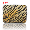 "17"" 17.3"" 17.4"" Black Brown Neoprene Notebook Laptop Sleeve Bag C..."