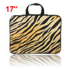 "17"" 17.3"" 17.4"" Blk Brown Notebook Laptop Sleeve Handle Bag Carry..."