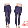 Women One Piece Close-fitting Skirt Leggings Skinny Pants Dark Pu...
