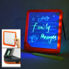 Orange Black Frame Illuminated Screen LED Message Memo Board w Ma...