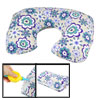 Purple White Green Flower Air Cushion Neck Guard Inflatable Pillo...